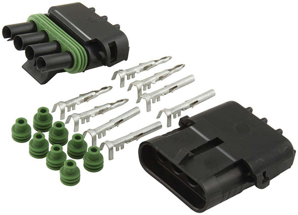 4-Wire Weather Pack Connector Kit Flat ALL76268 Allstar Performance