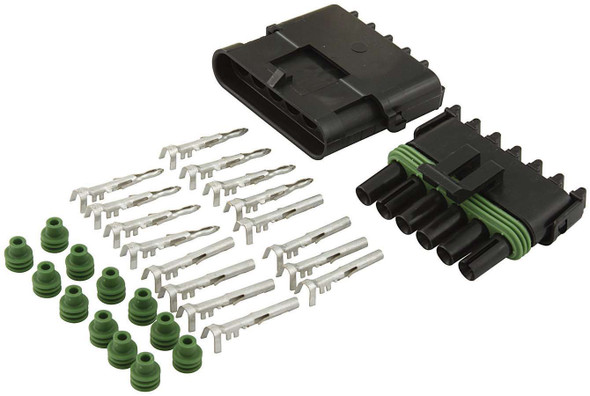 6-Wire Weather Pack Connector Kit ALL76270 Allstar Performance