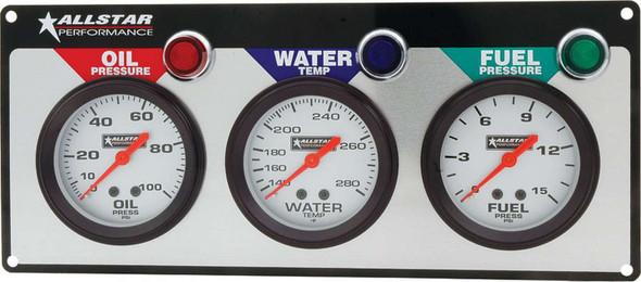 3 Gauge Panel ALL OP/WT/FP ALL80092 Allstar Performance