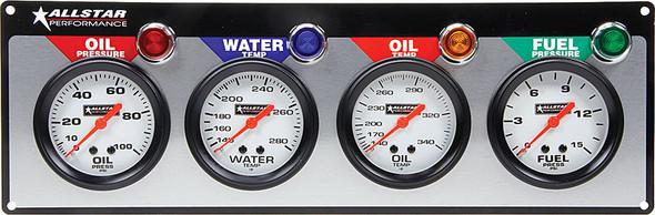 4 Gauge Panel ALL OP/WT/OT/FP ALL80093 Allstar Performance