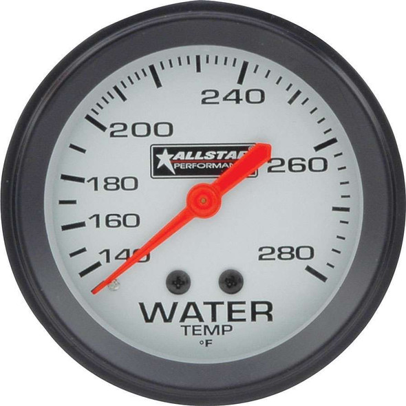ALL Water Temp Gauge 140-280F 2-5/8in ALL80096 Allstar Performance