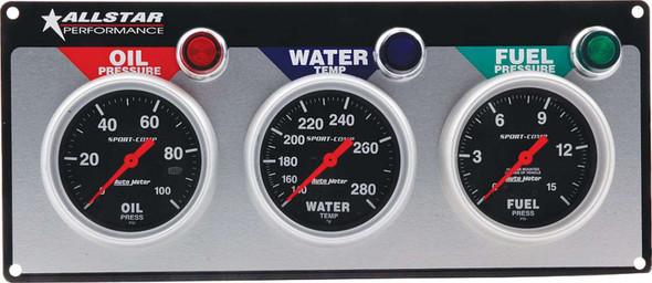 3 Gauge Panel A/M OP/WT/FP Sport-Comp ALL80113 Allstar Performance
