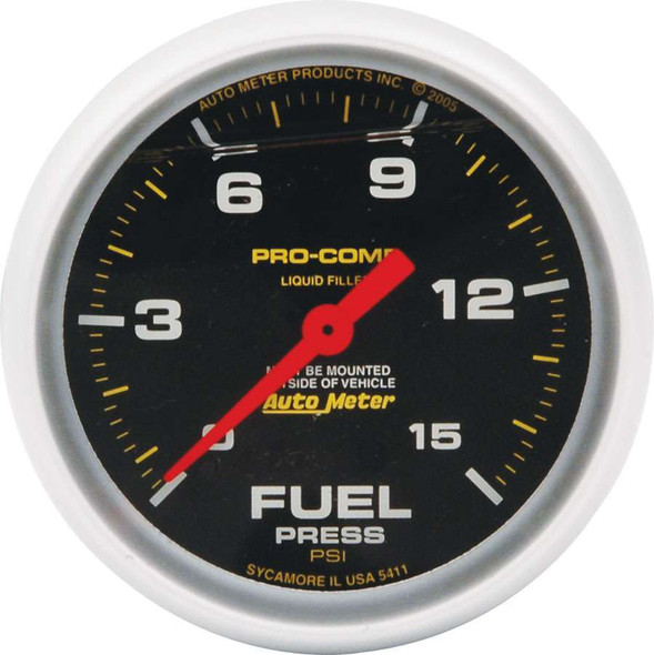 Replacement ATM FP Gauge 15psi Pro Comp 2-5/8in ALL80136 Allstar Performance