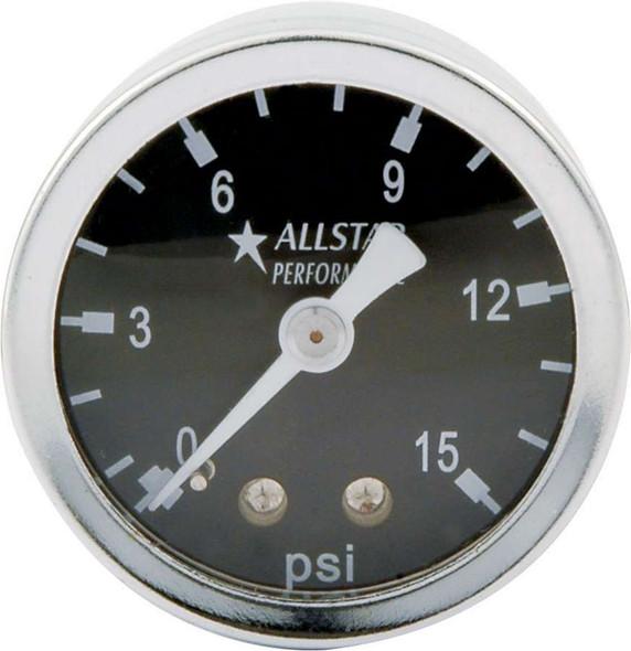 1.5in Gauge 0-15 PSI Liquid Filled ALL80200 Allstar Performance
