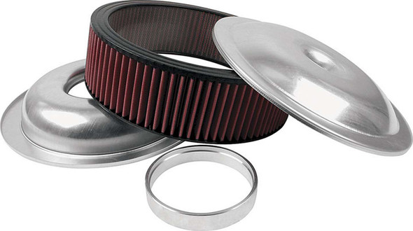 Lightweight 14in Air Cleaner Kit Plain 3in Washable Element ALL25920 Allstar Performance