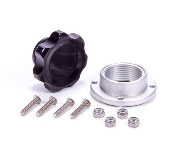 Filler Cap Black with Bolt-In Aluminum Bung Small ALL36181 Allstar Performance