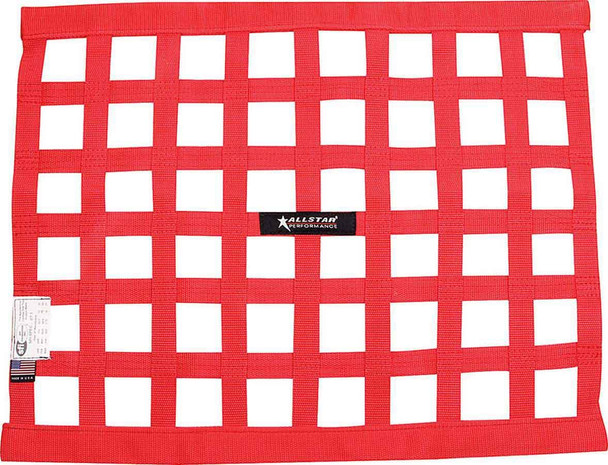 Window Net Border Style 18 x 24 SFI Red ALL10287 Allstar Performance