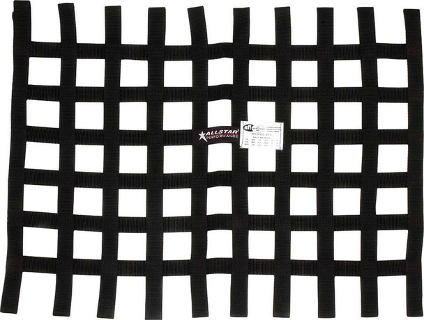 Window Net Loop Style 18 x 24 SFI Black ALL10295 Allstar Performance