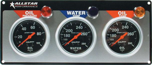 3 Gauge Panel A/M OP/WT/OT Sport-Comp ALL80112 Allstar Performance