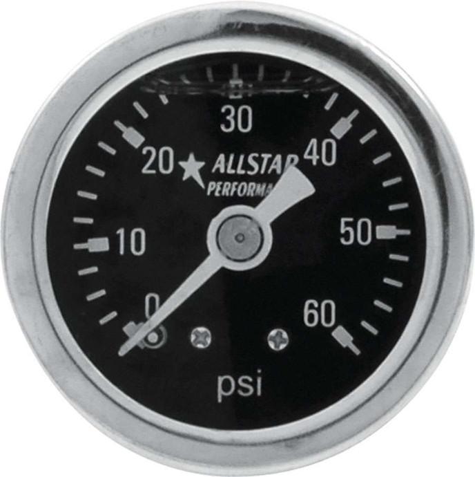 1.5in Gauge 0-60 PSI Liquid Filled ALL80204 Allstar Performance