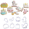 Unicorn Mini Cookie Cutter with Stencil Set   (A)