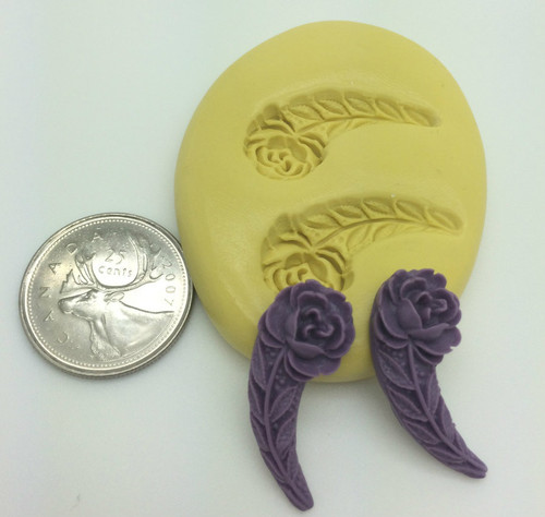 Rose with Stem Silicone Mold Set