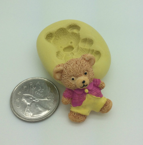 Cute Bear with Clothes Silicone Mold