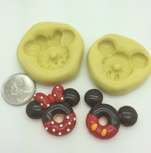 Mickey Minnie Shape Silicone Mold