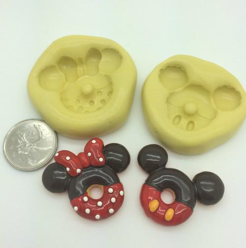 Mickey Minnie Shape Silicone Mold