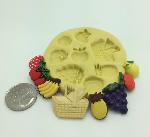 Picnic Basket Fruit Silicone Mold Set