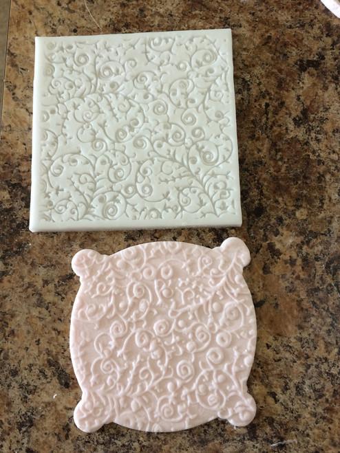 Impression Lace Silicone Mold Mat -pm107