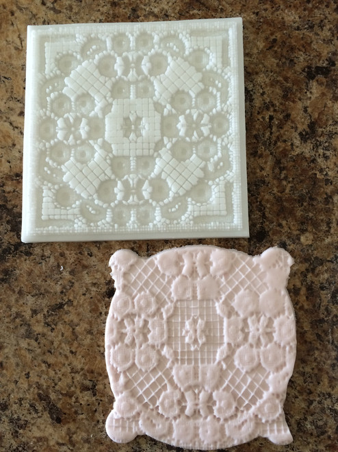 Impression Lace Silicone Mold Mat -pm109