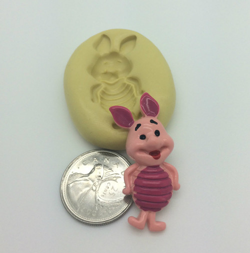 Winnie the poo Piglet Silicone Mold