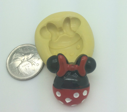 Minnie Mouse with bow and Dots  Silicone Mold