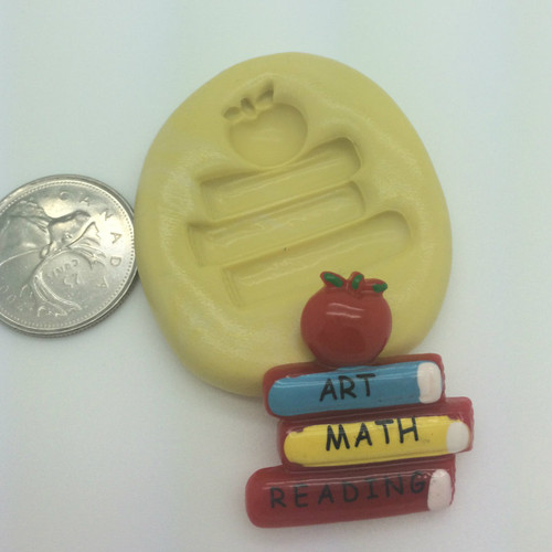 Book stack with Apple Silicone Mold