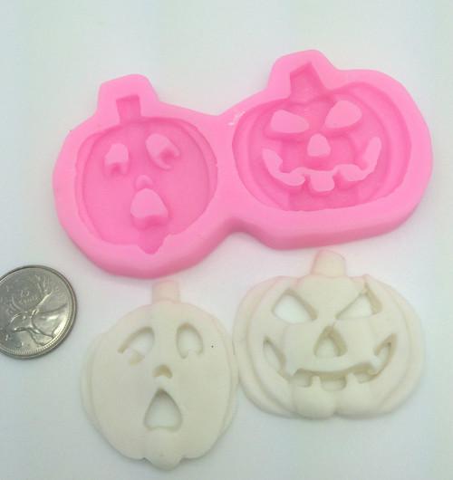 Pumpkin 2pc set Halloween  Silicone Mold  SE12