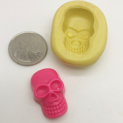 Face Skull Scary Silicone Mold