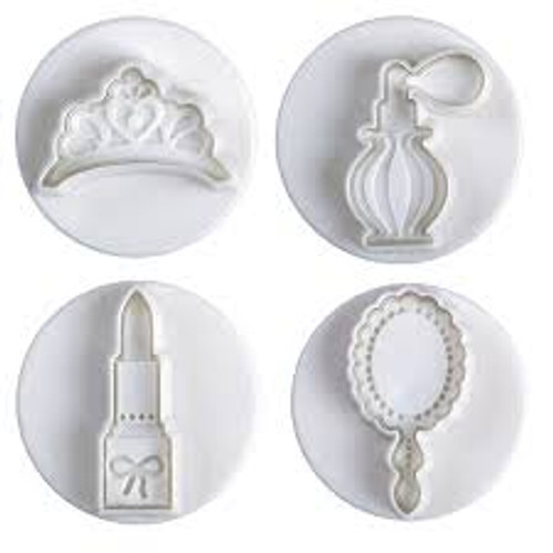 Tiara, Lipstick Perfume and Mirror   Plunger Set