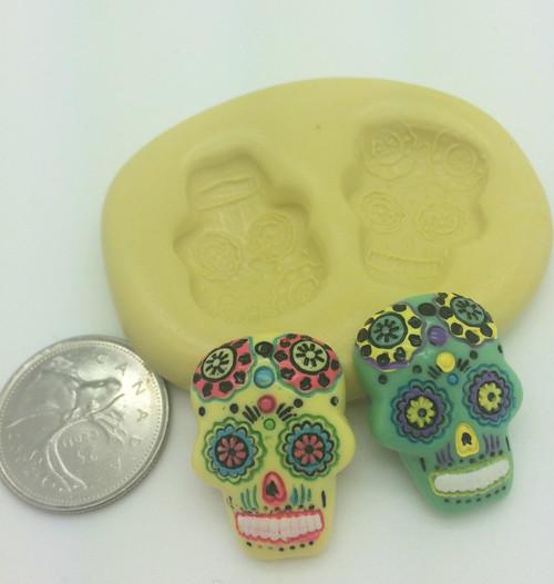 Day of the Dead Skull  Mold Set