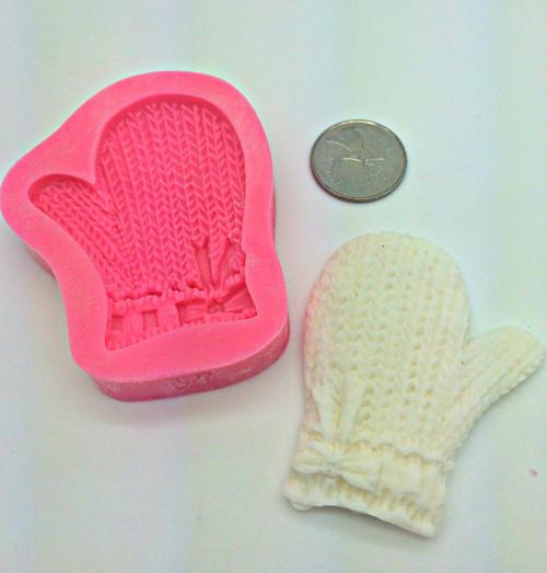 Winter Mitten Glove  Silicone  Mold  SE24