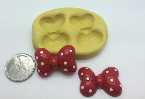 Large Minnie Bow  Silicone Mold
