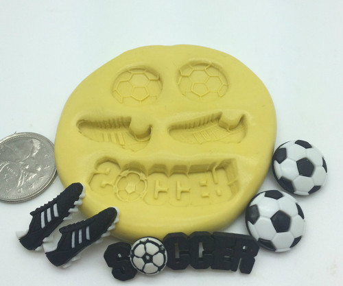 Soccer Sports Silicone Mold