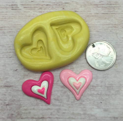 Double Heart Silicone Mold