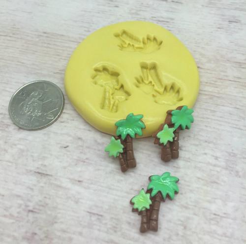 Mini Palm Tree Set Silicone Mold