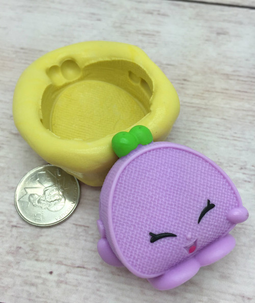 Shopkins Large Connie Coin Bag  Silicone Mold
