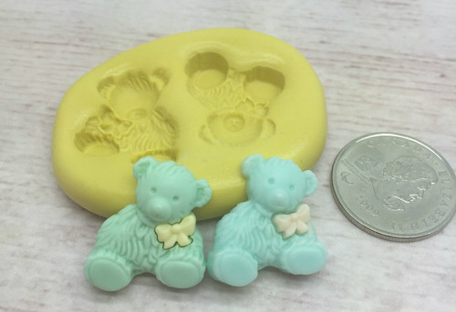 Bear Baby Silicone Mold - Christines Molds
