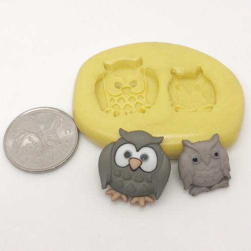 Owl Animal Set Silicone Mold