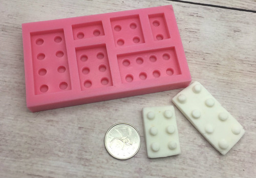 Lego 6pc Silicone Mold- PM247
