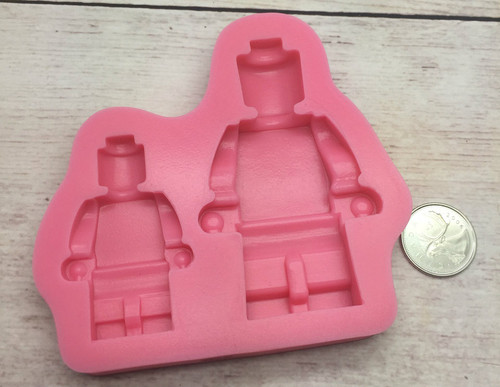 2pc Lego Man Silicone Mold  -PM248