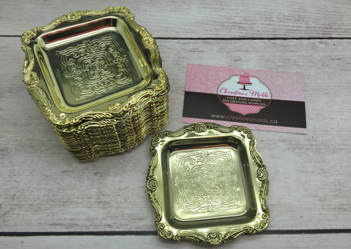 12pc Gold Mini Tray 3""