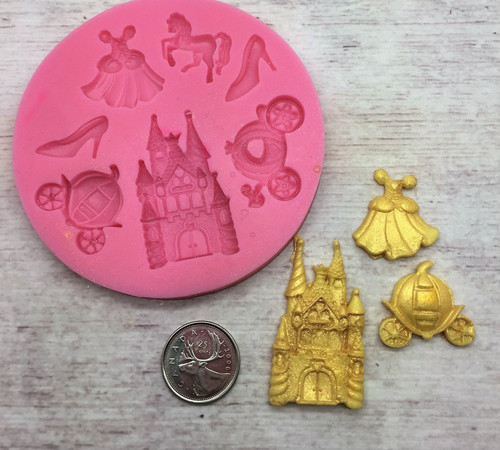 Princess Mold  7pc Silicone Mold Set -P176
