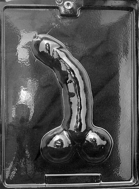 curved pecker mold large  Lolli Mold #273