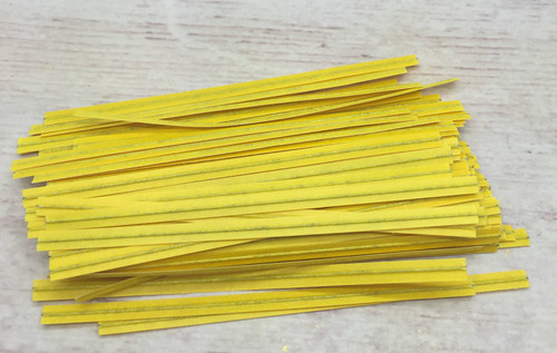 Yellow Twist Tie  100pc