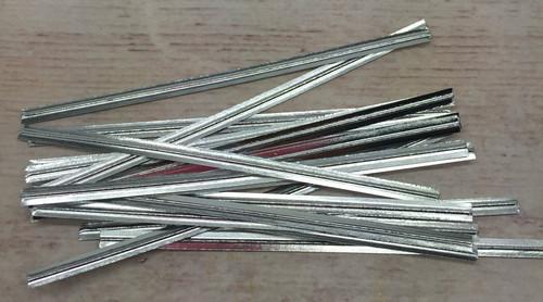 "Silver  Metalic 3.5""  Twist Tie  50pc"