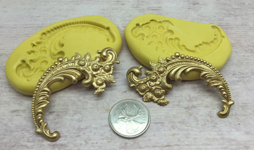 Fancy scroll 2pc  Mold Silicone