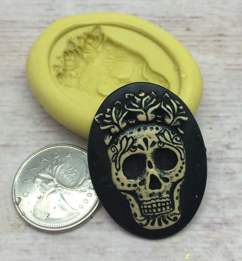 Skull Cameo  Mold Silicone