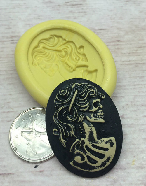 Lady  Cameo  Mold Silicone