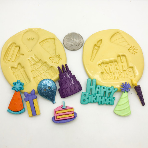 Birthday Set  Silcione mold