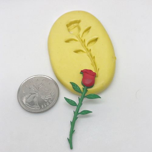 Long Stem Rose Mold Silicone