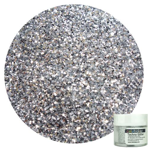 Celebakes American Silver Techno Glitter, 5g